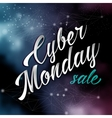 Cyber monday lettering sale background vector image vector image