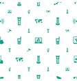 digital icons pattern seamless white background vector image vector image