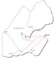 Djibouti Black White Map vector image vector image