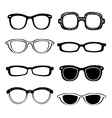 Drawn glasses set vector image vector image
