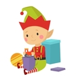 Elf helper vector image vector image