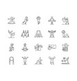 exercise line icons signs set outline vector image vector image
