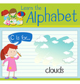 Flashcard letter C is for clouds vector image