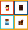 flat icon cacao set of cocoa chocolate bar vector image vector image
