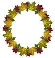 Frame of leaves vector image vector image