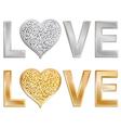 glitter love valentine vector image vector image