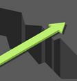 green arrow bridge gap vector image vector image