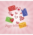 Greeting Card Happy Valentine s Day vector image vector image