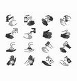 hand washing icons set black vector image vector image