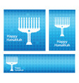 hanukkah greeting card banners template with vector image