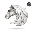 horse head logo emblem symbol for business vector image vector image
