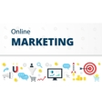 Internet marketing advertising concept in flat vector image vector image