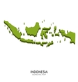 Isometric map of Indonesia detailed vector image vector image