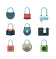 mechanical lock padlock safety symbols vector image vector image