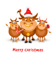 merry christmas and happy new year greeting with vector image vector image