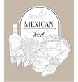 Mexican Food Vintage Sketch vector image vector image