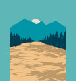 natural scenery colorful poster vector image vector image