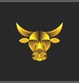 ox head logo symbol 2021 chinese new year vector image