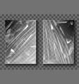 plastic film transparent cellophane stretch wrap vector image