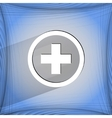 Plus Flat modern web design on a flat geometric vector image