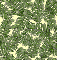 retro background with branches palm vector image vector image