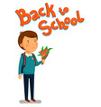 schoolboy happy schoolboy with backpack vector image vector image