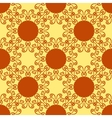 Seamless abstract pattern on yellow texture vector image vector image