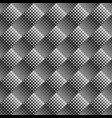 seamless geometrical monochrome diagonal square vector image vector image