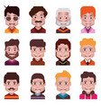 set 12 avatar icons isolated on white 13 vector image vector image