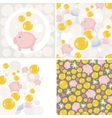 Set of four with saving pig vector image vector image