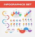 shadow infographic elements collection - business vector image