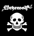 skull and bones and inscription in german wehrwolf vector image