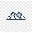snowy mountains concept linear icon isolated on vector image