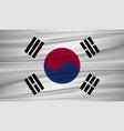 south korea flag flag of south korea blowig in vector image