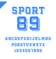 sport font alphabet with latin letters and numbers vector image