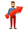 Successful businessman with arrow up vector image vector image