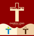 the cross of jesus and the city vector image vector image
