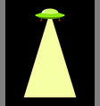 ufo beam isolated aliens kidnap template vector image