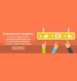 underground navigation banner horizontal concept vector image