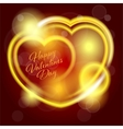 Valentines Day background with heart vector image vector image