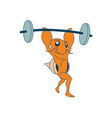 weightlifting athletic discipline vector image vector image