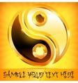 Yin yang gold symbol on vector image