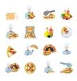 Pizza maker icon set vector image