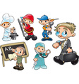 Types of Workers vector image