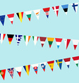 Bunting of flags from European Union vector image