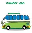 Green camper van for kids vector image