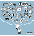 mobile phone social media concept vector image