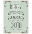 2018 happy new year vintage retro second edition vector image vector image