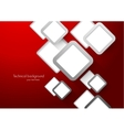 Abstract red background with squares vector image