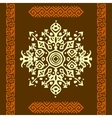 African style circle ornament or mandala vector image